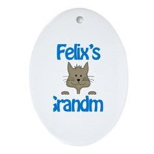 Felix's Grandma Oval Ornament