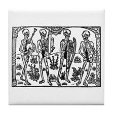 Danse Macabre Tile Coaster