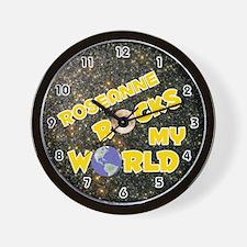 Roseanne Rocks My World (Gold) Wall Clock