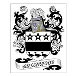 Greenwood Coat of Arms Small Poster