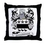 Greenwood Coat of Arms Throw Pillow