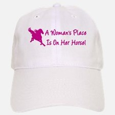 Woman's Place Is On Her Horse Baseball Baseball Cap