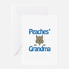 Peaches' Grandma Greeting Card