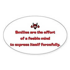Smilies Oval Decal