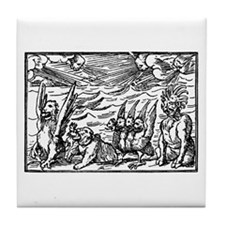 Demons On Parade Tile Coaster