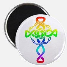 Rainbow Cross Magnet
