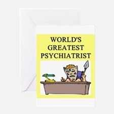 psychiatry gifts t-shirts Greeting Card