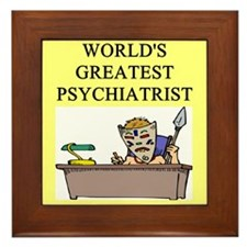 psychiatry gifts t-shirts Framed Tile