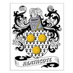 Heathcote Coat of Arms Small Poster