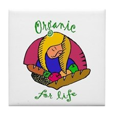 Organic For Life Tile Coaster