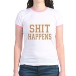Shit Happens Jr. Ringer T-Shirt