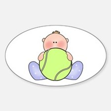 Lil Tennis Baby Boy Oval Decal