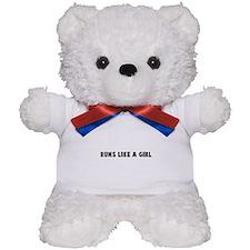 Runs like a girl Teddy Bear