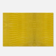 Yellow Alligator Skin Postcards (Package of 8)