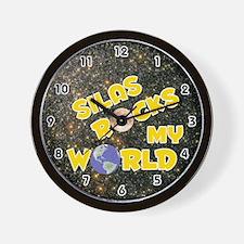Silas Rocks My World (Gold) Wall Clock