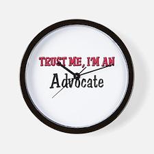 Trust Me I'm an Advocate Wall Clock