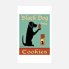 Black Dog Cookies Sticker (Rectangle 10 pk)