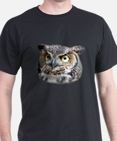 Great Horned Owl Face T-Shirt