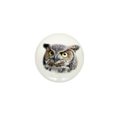 Great Horned Owl Face Mini Button (100 pack)