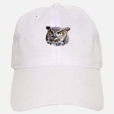 Great Horned Owl Face Baseball Baseball Cap