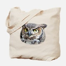 Great Horned Owl Face Tote Bag