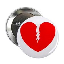 """Broken Heart 2.25"""" Button"""