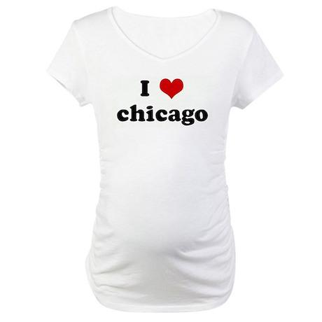 I Love chicago Maternity T-Shirt