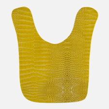 Yellow Alligator Skin Polyester Baby Bib