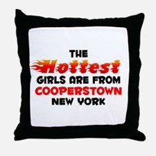 Hot Girls: Cooperstown, NY Throw Pillow
