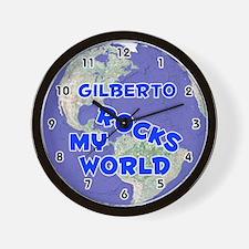 Gilberto Rocks My World (Blue) Wall Clock