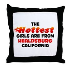 Hot Girls: Healdsburg, CA Throw Pillow