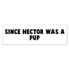 Since hector was a pup Bumper Bumper Sticker