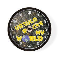 Ursula Rocks My World (Gold) Wall Clock