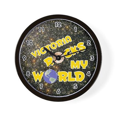 Victoria Rocks My World (Gold) Wall Clock