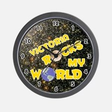 Victoria Rocks My World (Gold) Wall Clock
