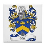 Jay Coat of Arms Tile Coaster
