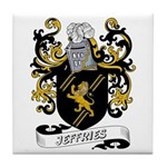 Jeffries Coat of Arms Tile Coaster