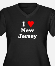 I Love New Jersey Women's Plus Size V-Neck Dark T-