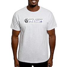 Ash Grey T-Shirt - Design #2