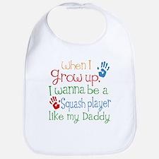 Squash Player Like Daddy Baby Bib