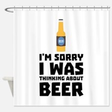 Thinking about Beer bottle C860x Shower Curtain