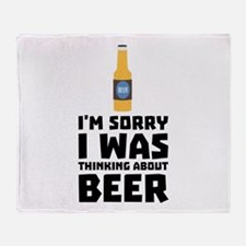 Thinking about Beer bottle C860x Throw Blanket
