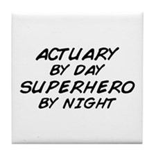 Actuary Superhero Tile Coaster
