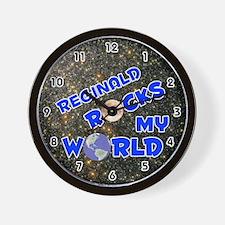 Reginald Rocks My World (Blue) Wall Clock