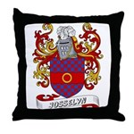 Josselyn Coat of Arms Throw Pillow