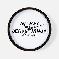 Actuary Deadly Ninja Wall Clock