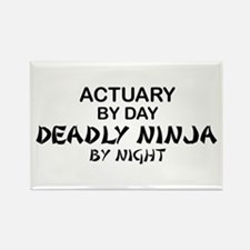 Actuary Deadly Ninja Rectangle Magnet