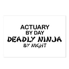 Actuary Deadly Ninja Postcards (Package of 8)
