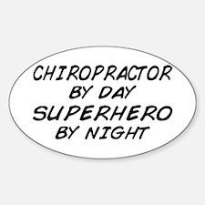 Chiropractor Superhero Oval Decal