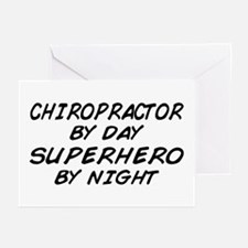 Chiropractor Superhero Greeting Cards (Pk of 10)
